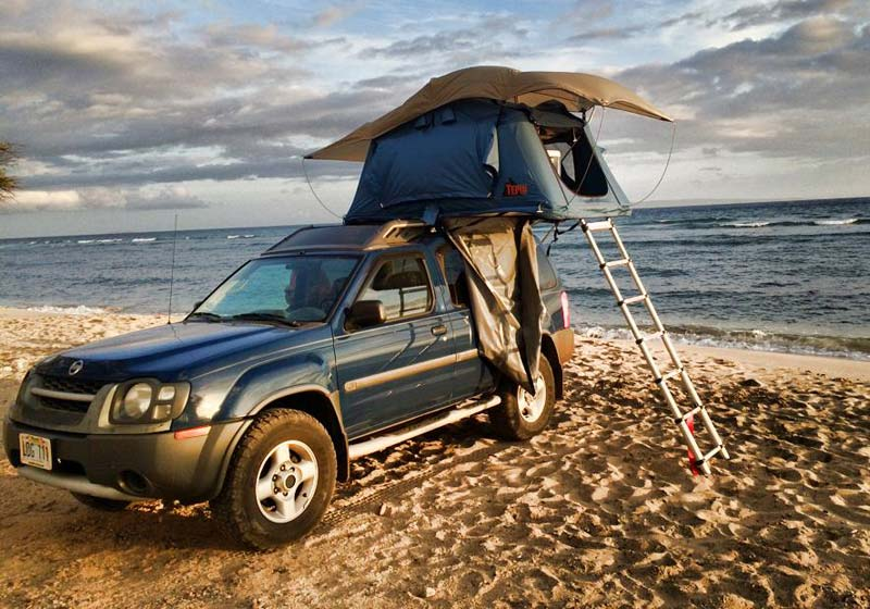 Rooftop Camping By the Beach in Maui HI