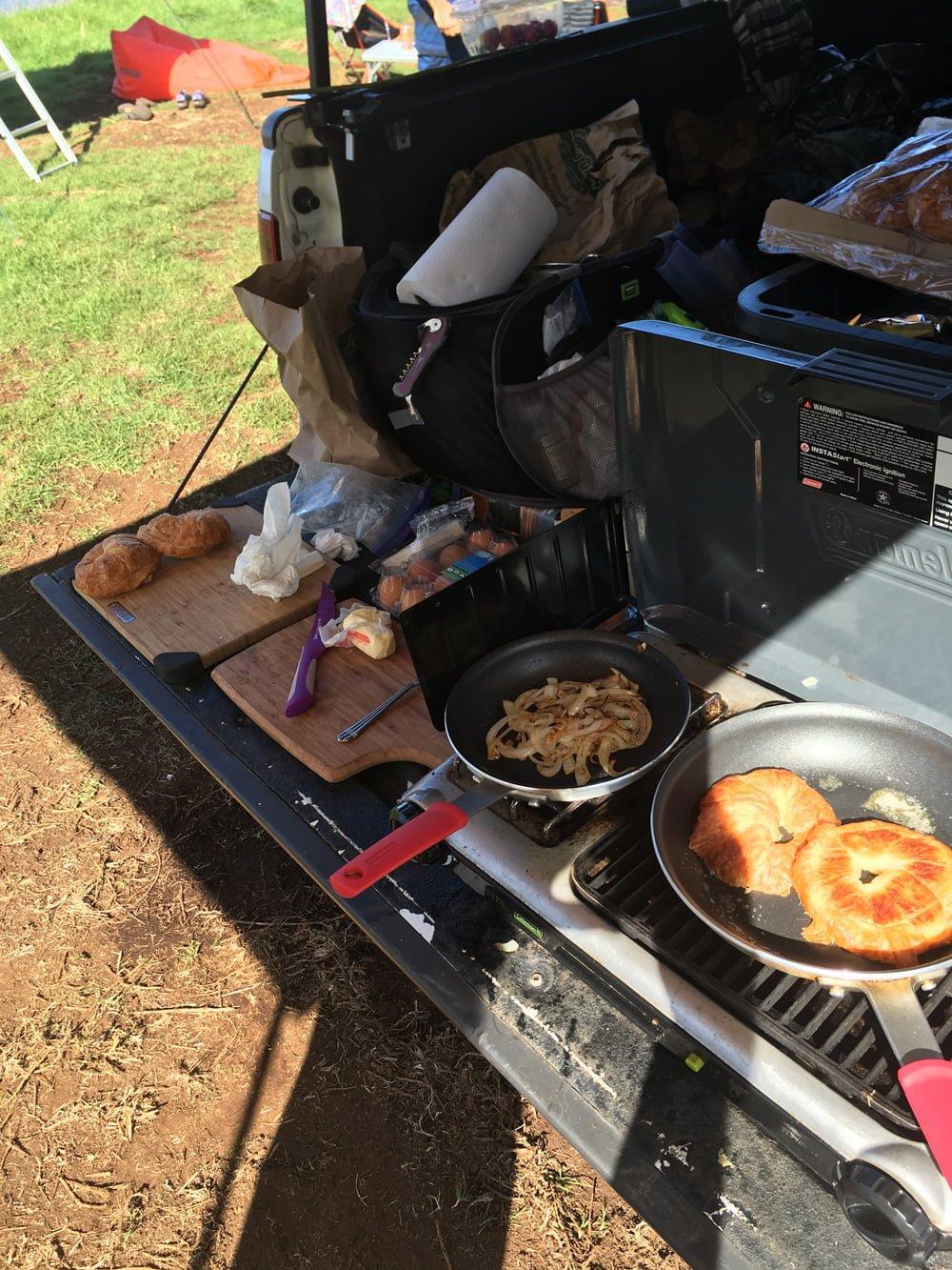 Food While Camping in Maui HI